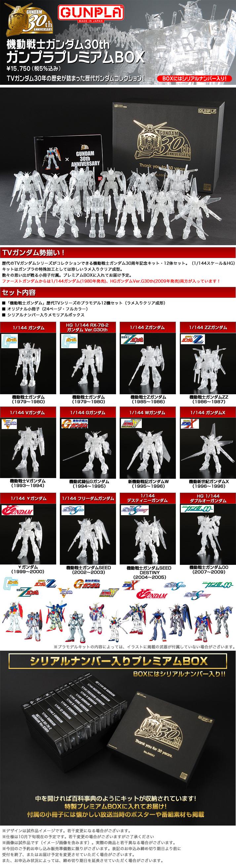 機動戦士ガンダム30th ガンプラプレミアムBOX 公式商品説明(画像)