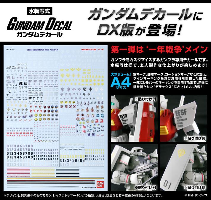 ガンダムデカールDX 01 【一年戦争系】 公式商品説明(画像)