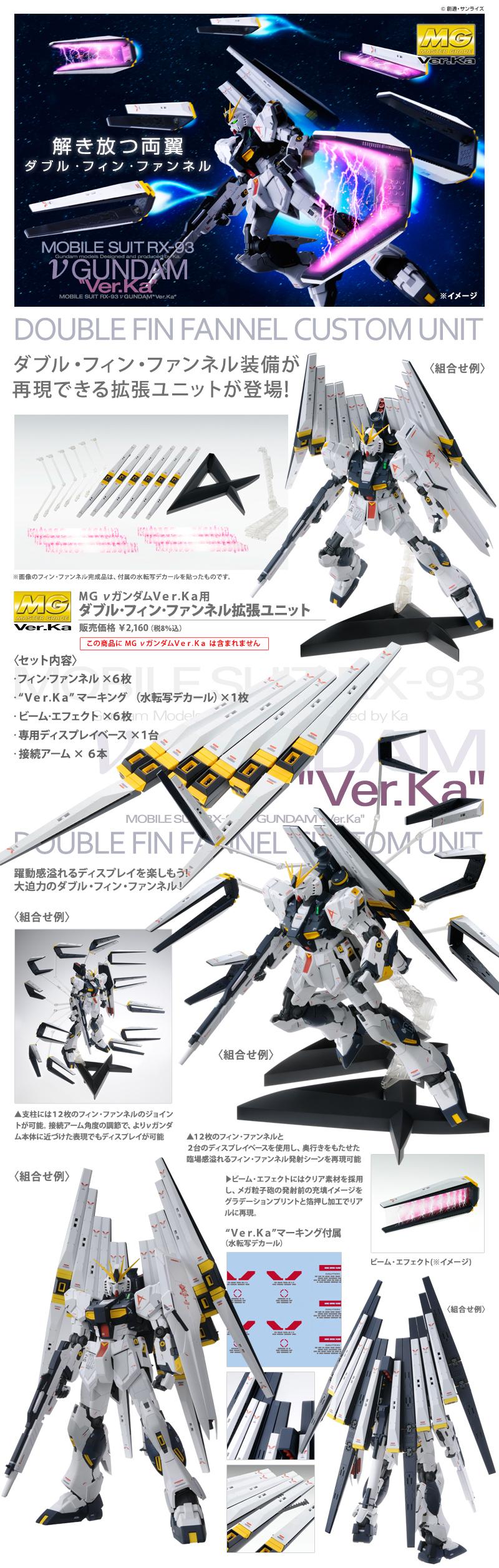 MG 1/100 RX-93 ダブル・フィン・ファンネル拡張ユニット 公式商品説明(画像)