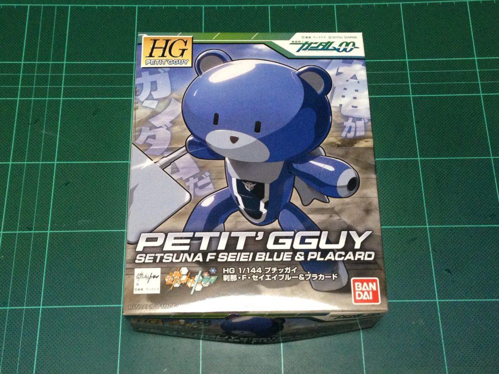 HGPG 1/144 プチッガイ 刹那・F・セイエイブルー&プラカード [Petit'gguy Setsuna F. Seiei Blue & Placard] パッケージ