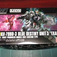 "HGUC 209 1/144 RX-79BD-3 ブルーディスティニー3号機""EXAM"" [Blue Destiny Unit 3""EXAM""]"