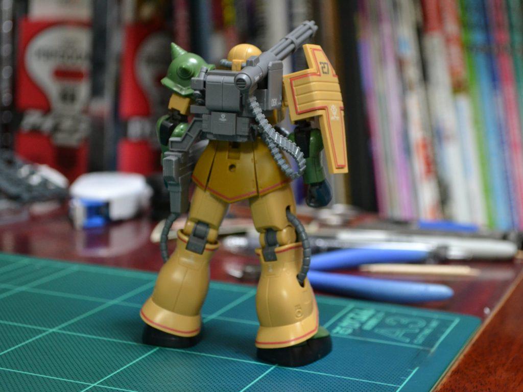 MS-06JK ザク・ハーフキャノン [Zaku Half Cannon]《THE ORIGIN》 背面