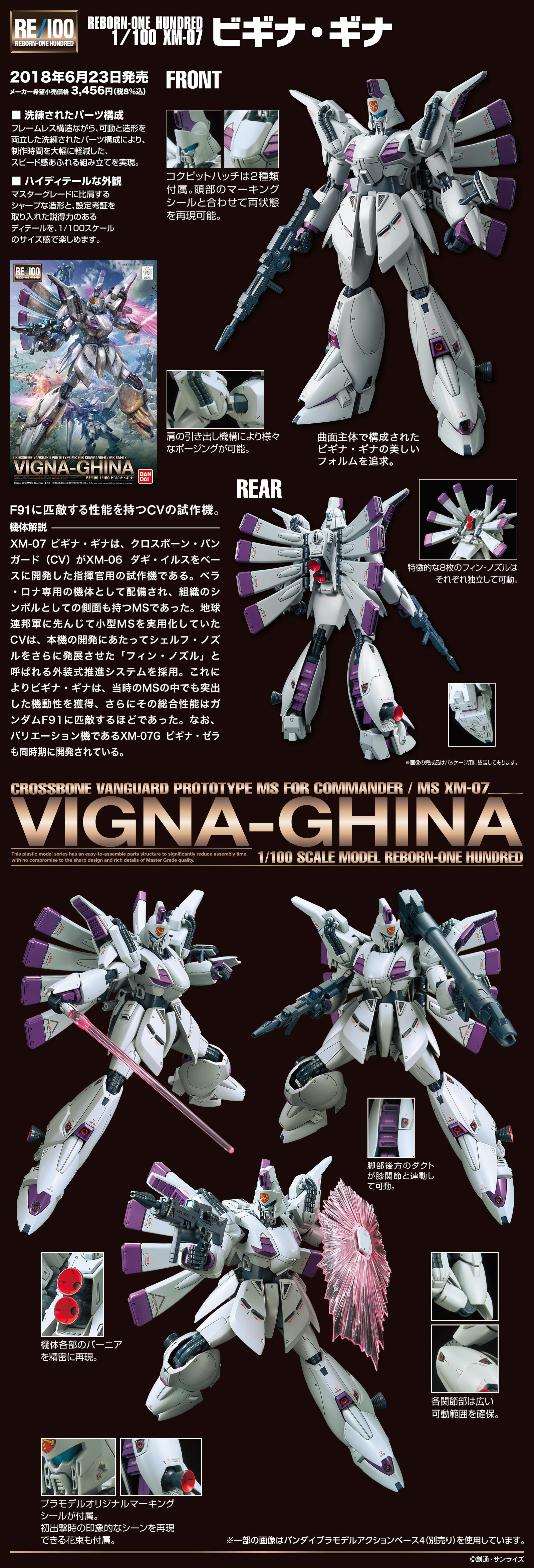 RE/100 1/100 ビギナ・ギナ [Vigna-Ghina] 公式商品説明(画像)