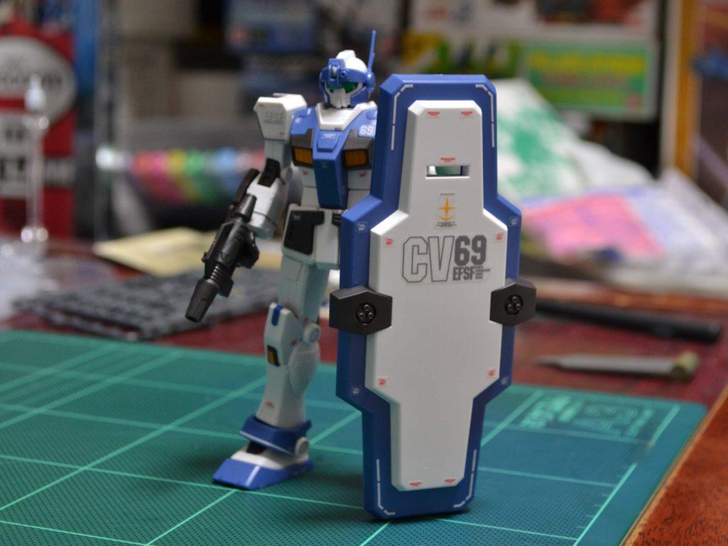 HG 1/144 RGM-79HC ジム・ガードカスタム [GM Guard Custom] JAN:4549660303558 正面