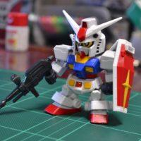 SDガンダム クロスシルエット(SDCS)  RX-78-2 ガンダム & クロスシルエットフレーム セット [SD Gundam Cross Silhouette RX-78-2 Gundam & Cross Silhouette Frame Set] 4549660283812 素組画像