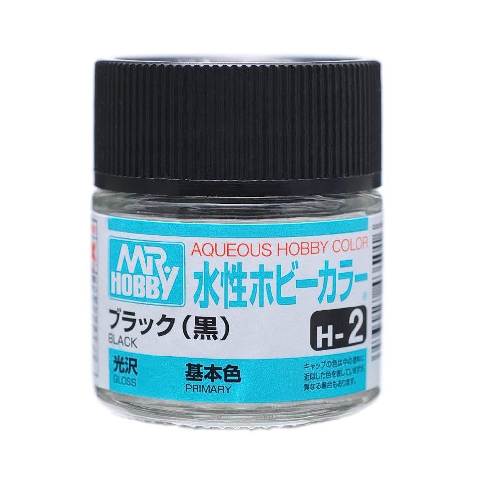 水性ホビーカラー H2 ブラック(黒) 光沢