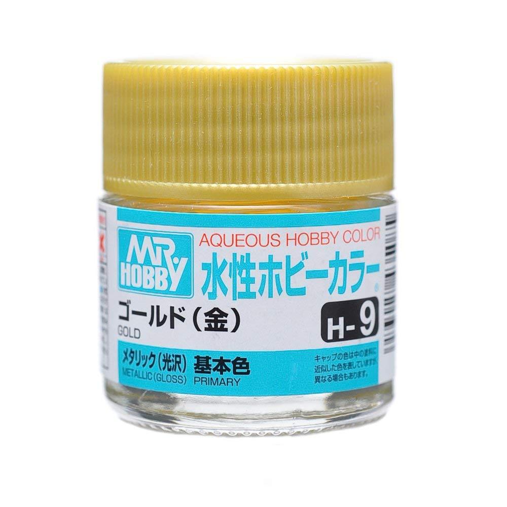 水性ホビーカラー H9 ゴールド (金) メタリック(光沢)