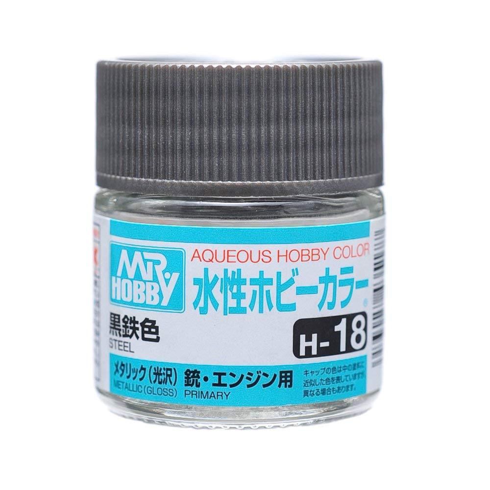 水性ホビーカラー H18 黒鉄色 光沢