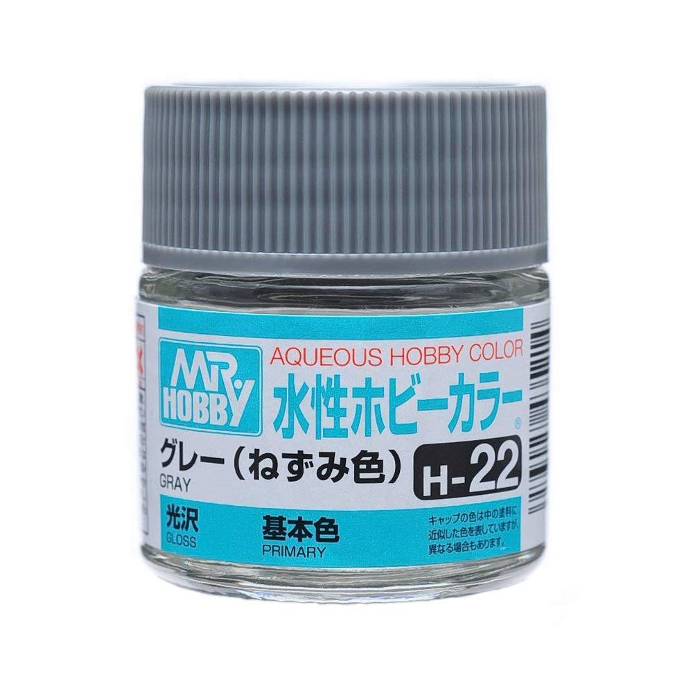 水性ホビーカラー H22 グレー (ねずみ色) 光沢