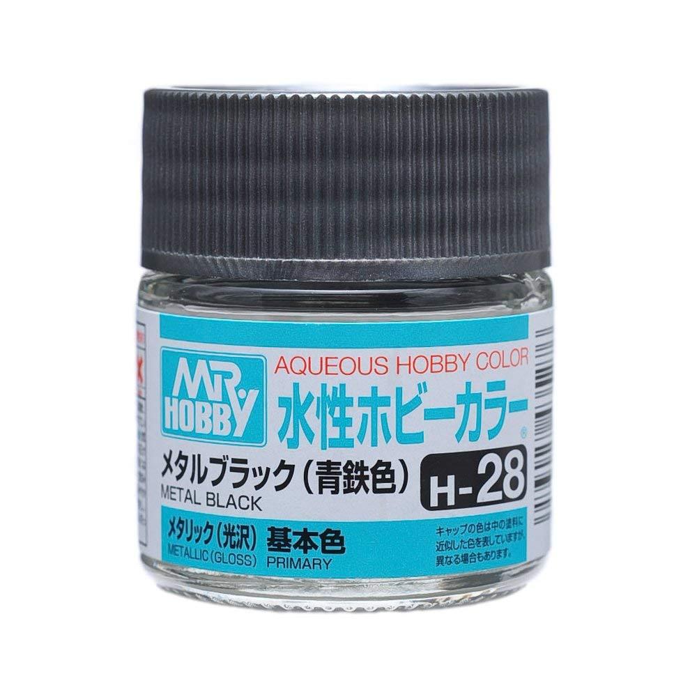 水性ホビーカラー H28 メタルブラック (青鉄色) 光沢
