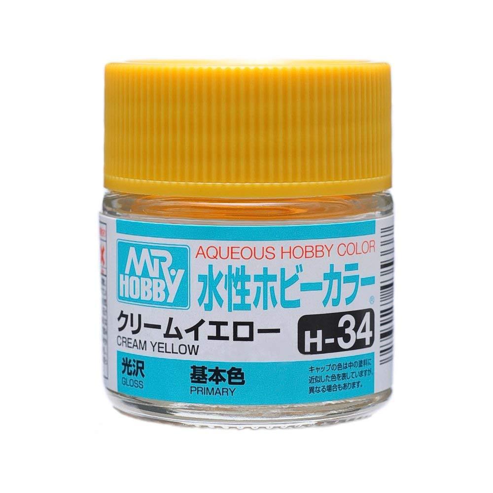 水性ホビーカラー H34 クリームイエロー 光沢