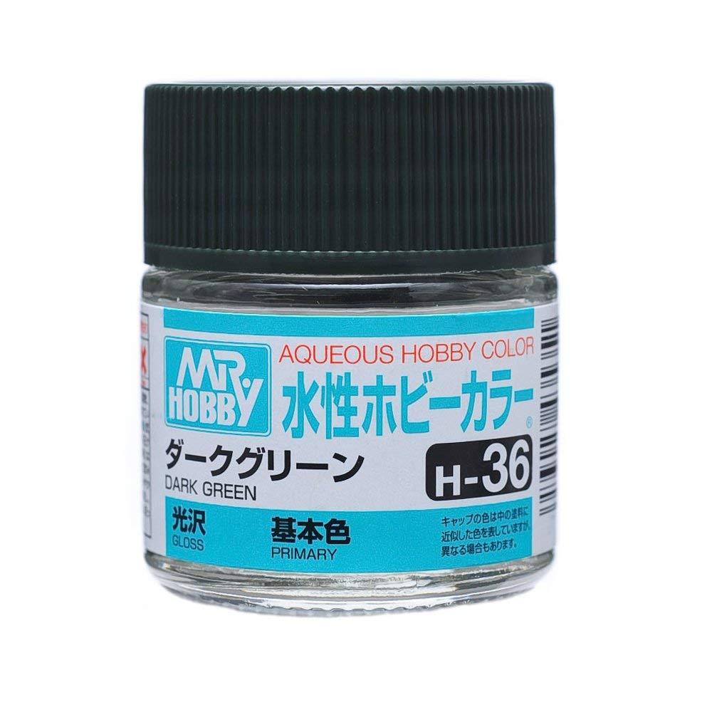 水性ホビーカラー H36 ダークグリーン 光沢