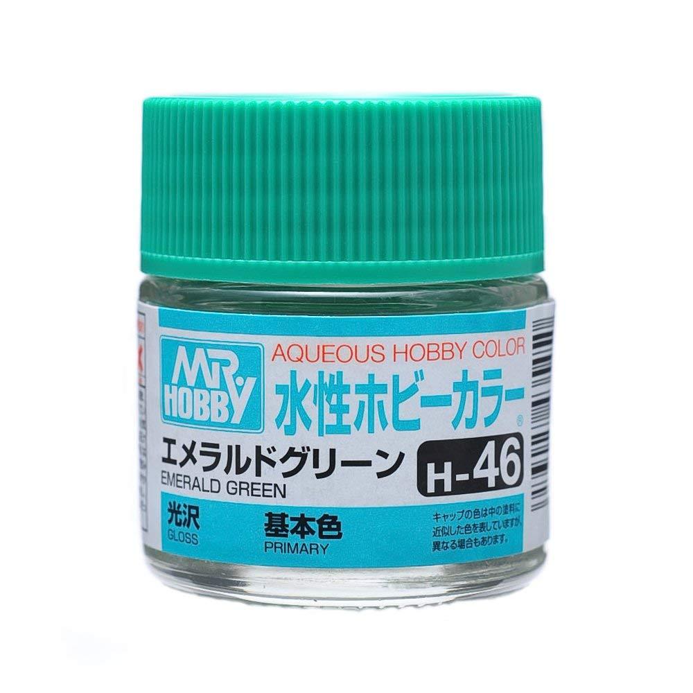 水性ホビーカラー H46 エメラルドグリーン 光沢