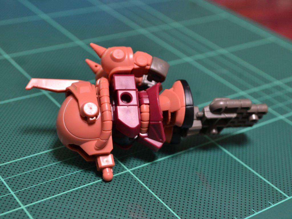 ミニプラ スーパーショックガンダム No.03 SGシャア専用ザク 正面