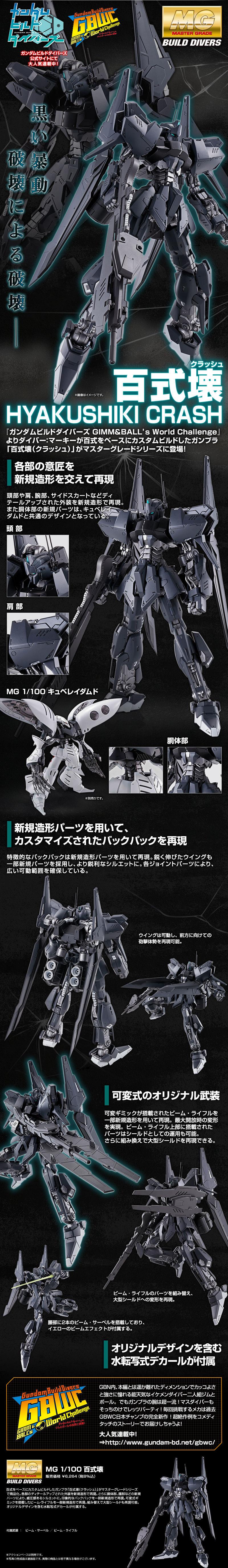 MG 1/100 百式壊(クラッシュ) 公式商品説明(画像)