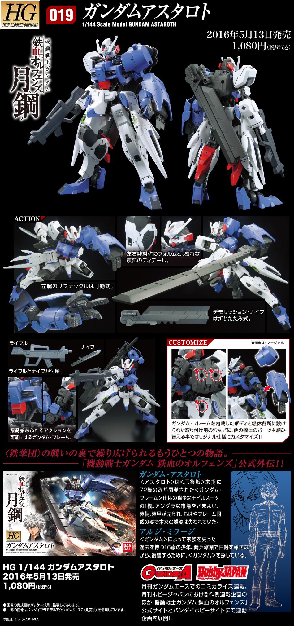 HG 1/144 ASW-G-29 ガンダムアスタロト [Gundam Astaroth] 公式商品説明(画像)