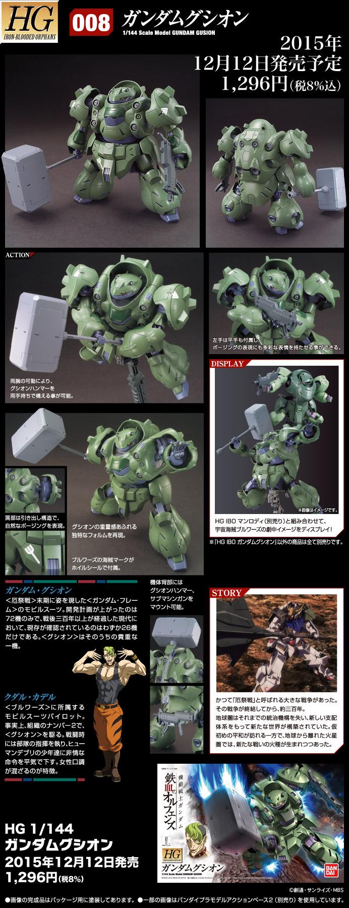 HG 1/144 ASW-G-11 ガンダムグシオン 公式商品説明(画像)