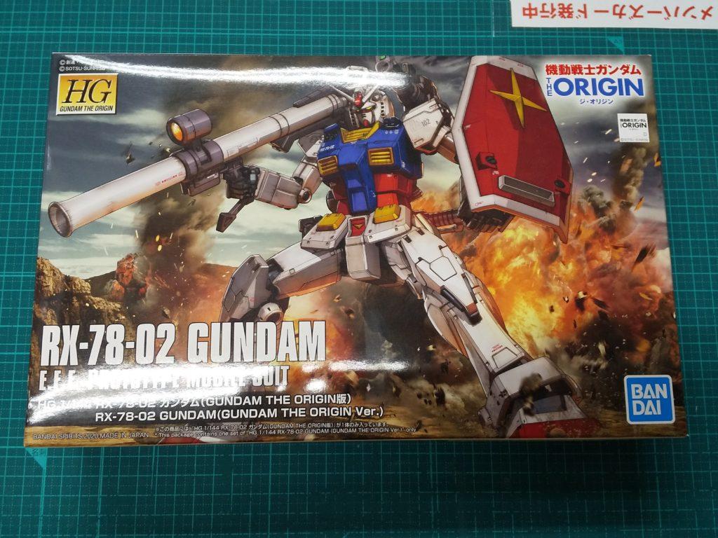 HG 1/144 RX-78-02 ガンダム(GUNDAM THE ORIGIN版) パッケージ