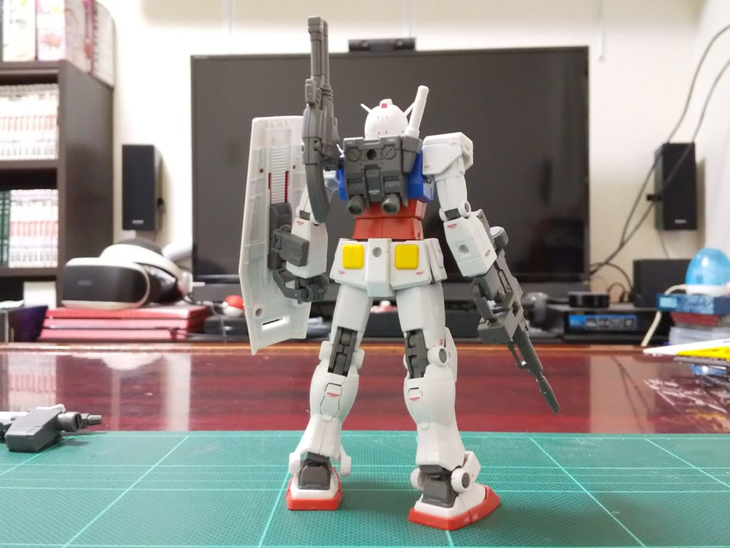 HG 1/144 RX-78-02 ガンダム(GUNDAM THE ORIGIN版) 背面