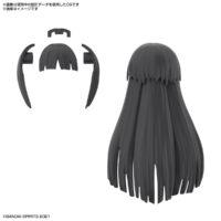 30MS オプションヘアスタイルパーツVol.3 全4種 ロングヘア1[ブラック1]