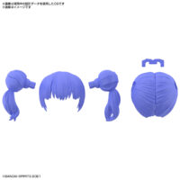 30MS オプションヘアスタイルパーツVol.3 全4種 ツインテール3[パープル1]