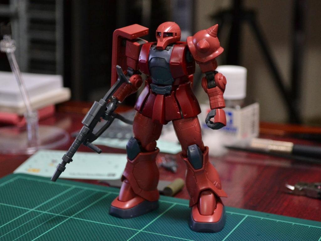HG 1/144 MS-05S シャア専用ザクI [Char's Zaku I] 正面