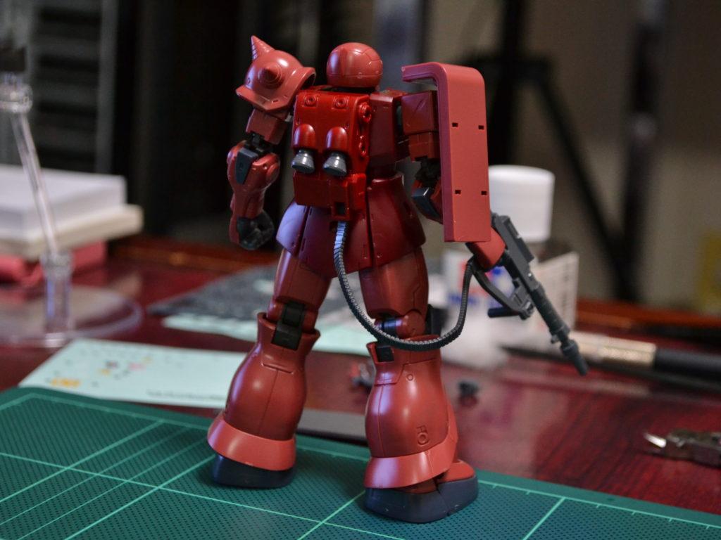 HG 1/144 MS-05S シャア専用ザクI [Char's Zaku I] 背面