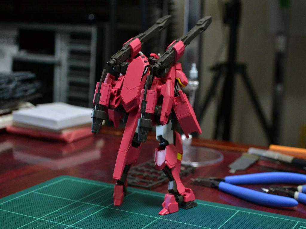 HG 1/144 ASW-G-64 ガンダムフラウロス(流星号) [Gundam Flauros (Ryusei-Go)] 背面