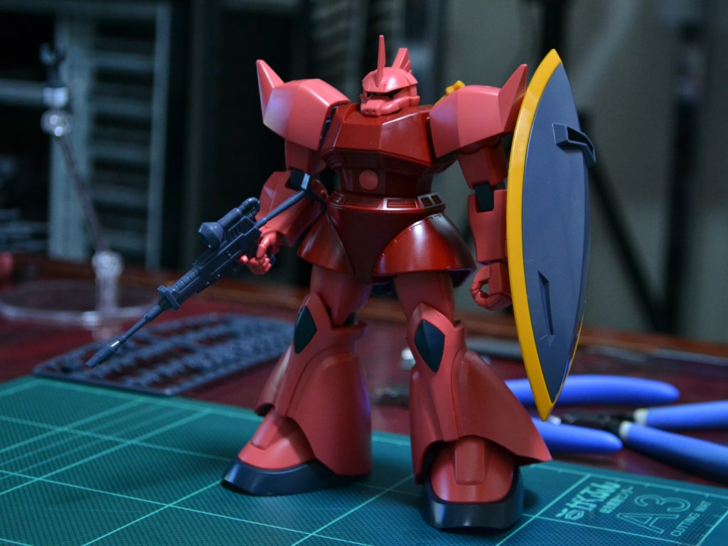 HGUC 1/144 MS-14S シャア専用ゲルググ [Gelgoog (Char Aznable Custom)] 正面