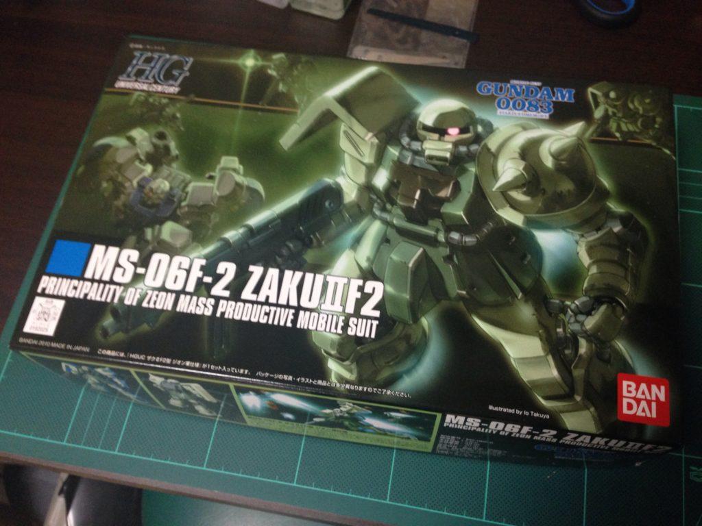 HGUC 105 1/144 MS-06F-2 ザクIIF2型 ジオン軍仕様 [Zaku II F2 (Zeon Version)] パッケージ