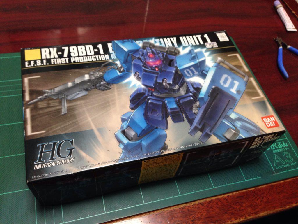 HGUC 1/144 RX-79BD-1 ブルーディスティニー1号機 [Blue Destiny Unit 1] パッケージ