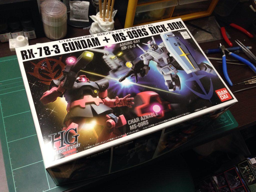 HGUC 1/144 G-3ガンダム + シャア専用リック・ドム [RX-78-3 Gundam + MS-09RS Rick-Dom] パッケージ