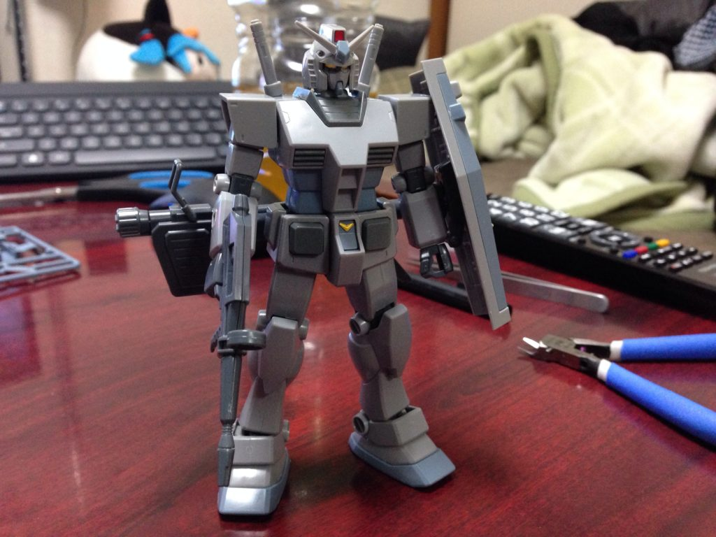 HGUC 1/144 G-3ガンダム + シャア専用リック・ドム [RX-78-3 Gundam + MS-09RS Rick-Dom] 正面
