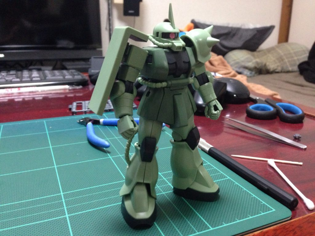 HGUC 1/144 MS-06 ザク地上戦セット [Zaku The Ground War Set] 正面