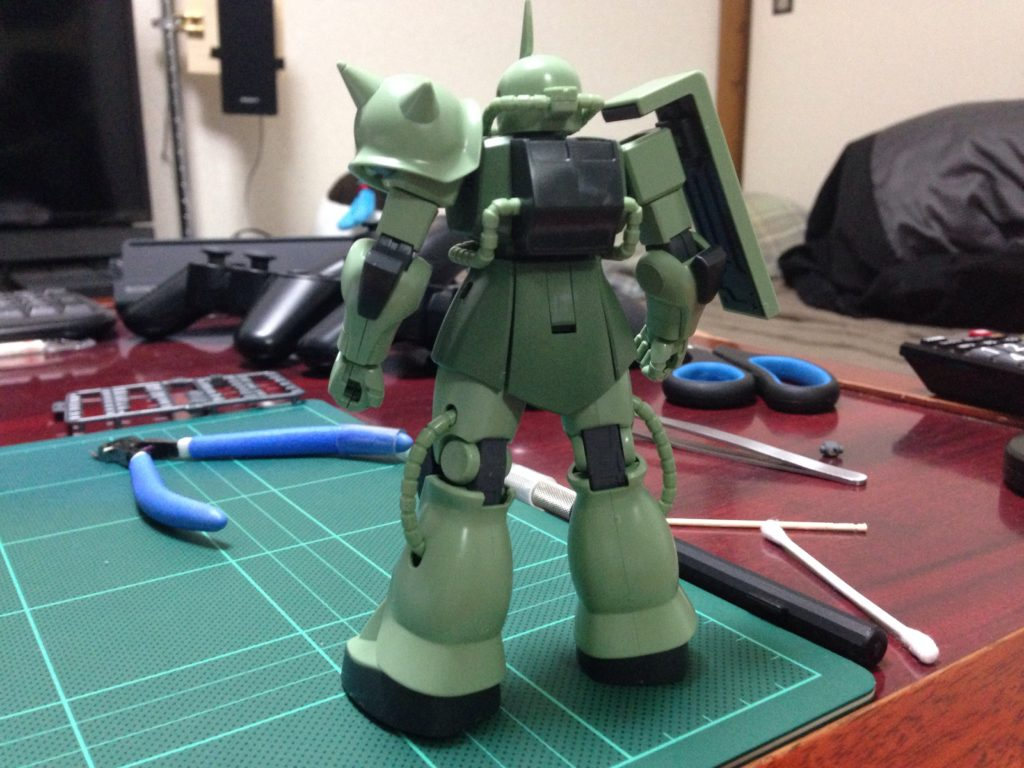 HGUC 1/144 MS-06 ザク地上戦セット [Zaku The Ground War Set] 背面
