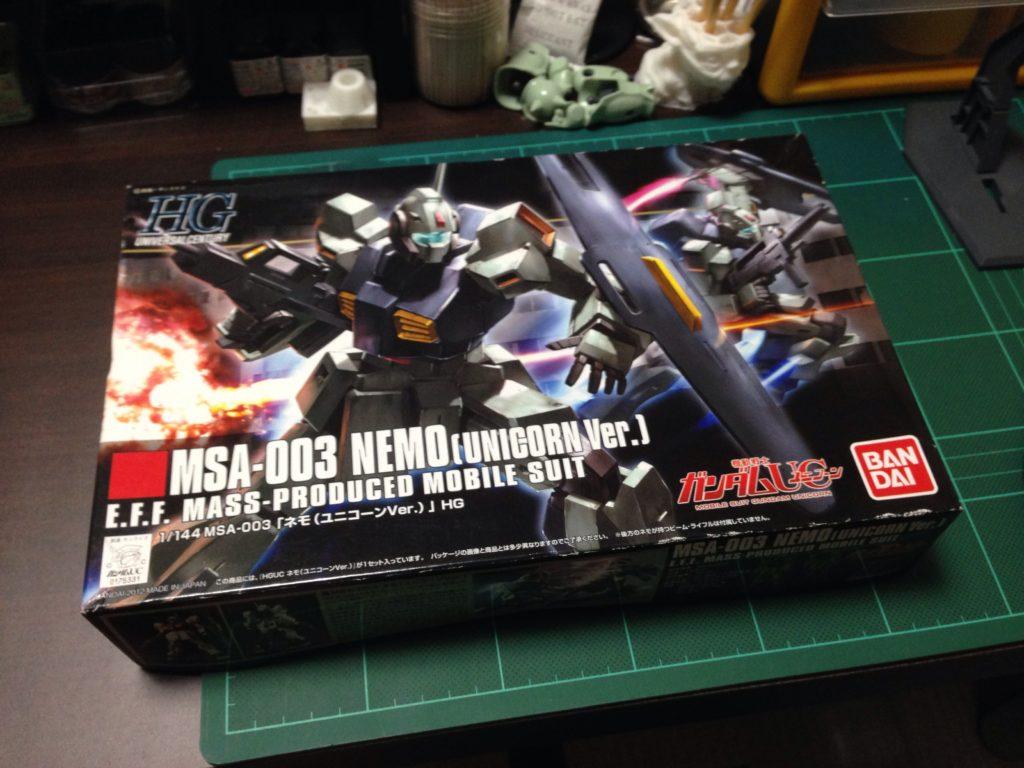 HGUC 1/144 MSA-003 ネモ(ユニコーンVer.) [Nemo (Unicorn Ver.)] パッケージ