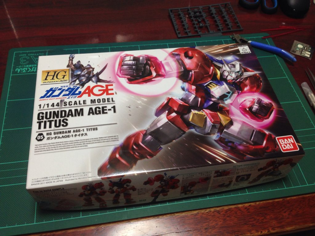 HG 1/144 AGE-1T ガンダムAGE-1 タイタス [Gundam AGE-1 Titus] パッケージ