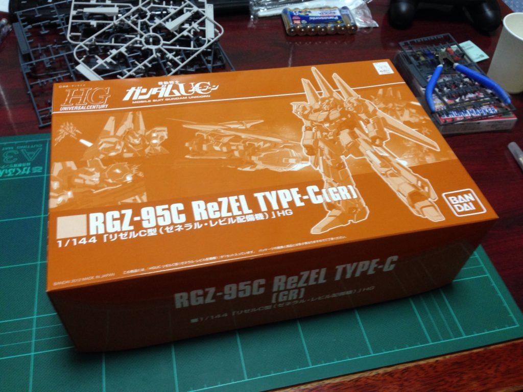 HGUC 1/144 RGZ-95C リゼルC型(ゼネラル・レビル配備型) パッケージ