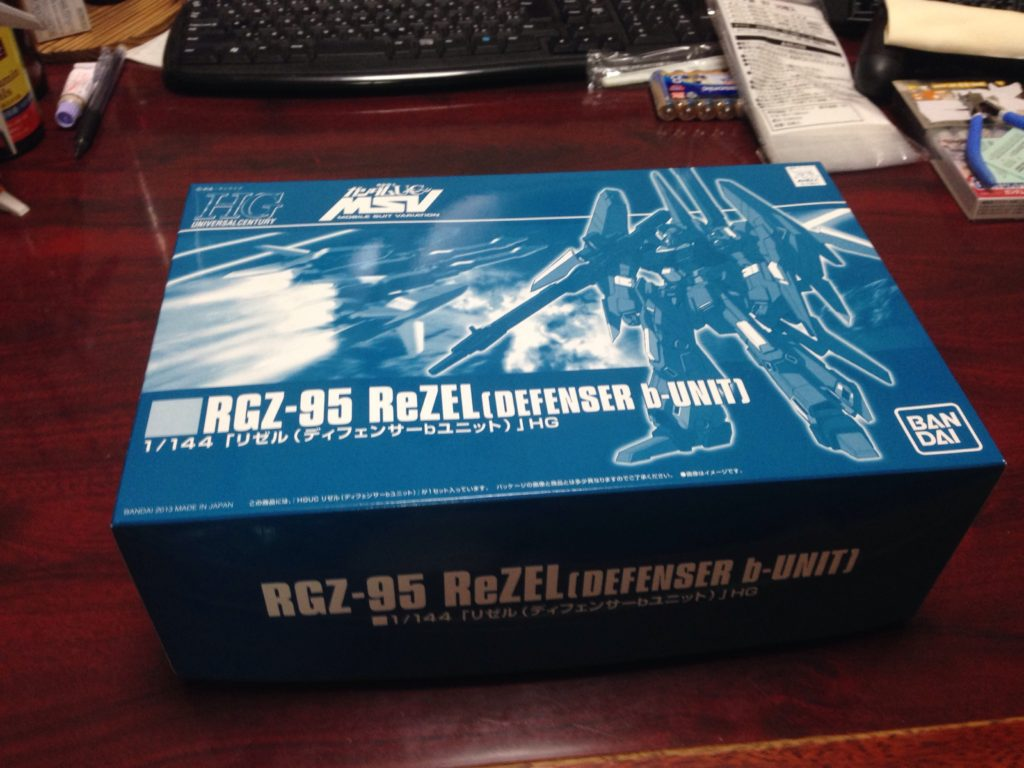 HGUC 1/144 RGZ-95 リゼル(ディフェンサーbユニット) [ReZEL (Defenser b-Unit)] パッケージ
