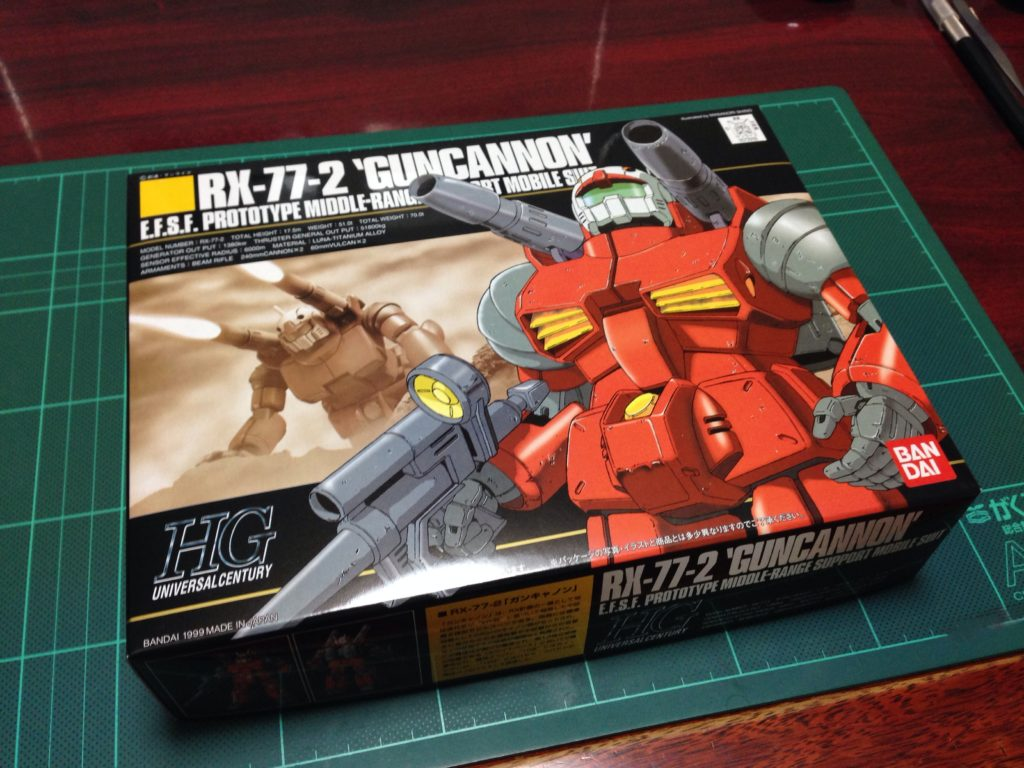 HGUC 001 1/144 RX-77-2 ガンキャノン [Guncannon] パッケージ