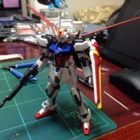 HGCE 1/144 GAT-X105+AQM/E-X01 エールストライクガンダム [Aile Strike Gundam]
