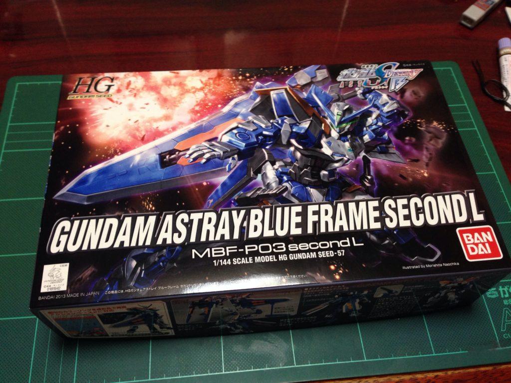 HGCE 1/144 MBF-P03R ガンダムアストレイ ブルーフレーム セカンドL [Gundam Astray Blue Frame Second L] パッケージ