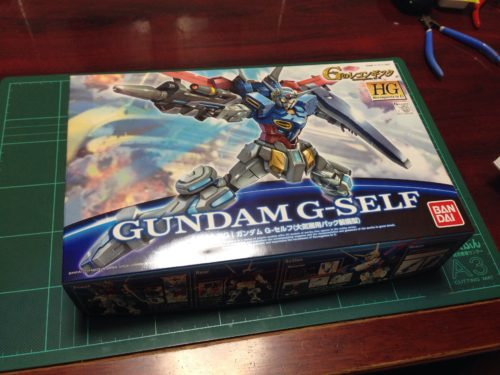 HG 001 1/144 ガンダム G-セルフ(大気圏用パック装備型) [Gundam G-Self Atmospheric Pack]