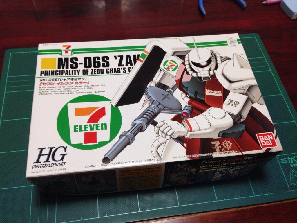 HGUC 1/144 MS-06S シャア専用ザク セブン-イレブン カラー パッケージ