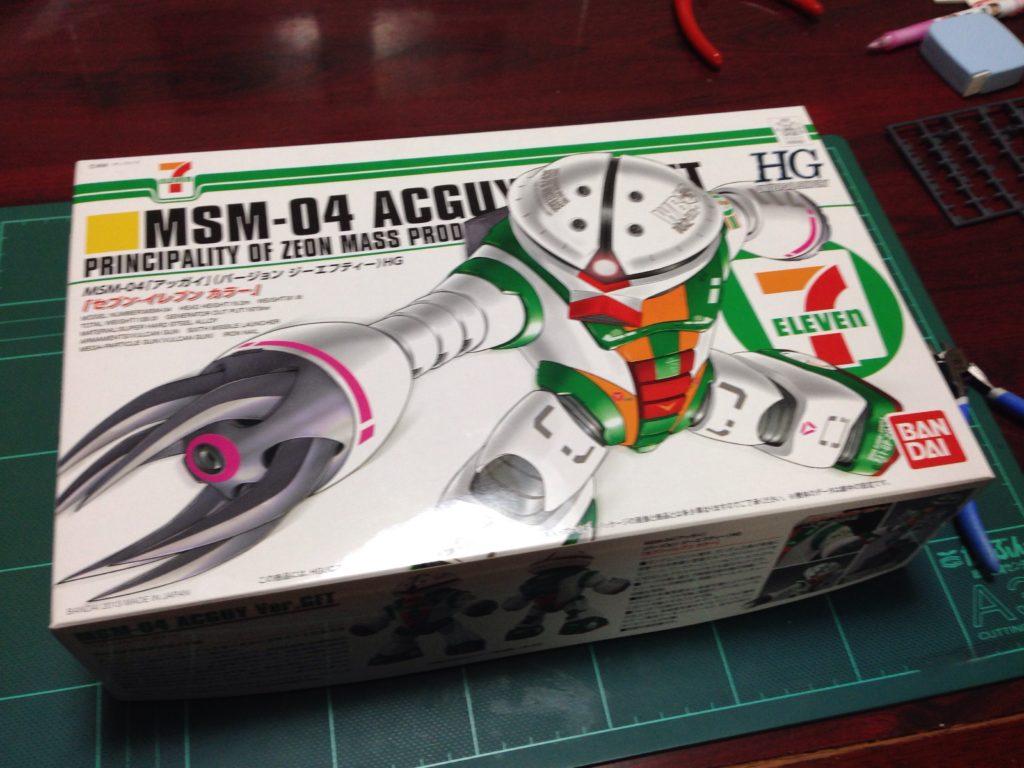 HGUC 1/144 MSM-04 アッガイ Ver.GFT セブン-イレブン カラー パッケージ