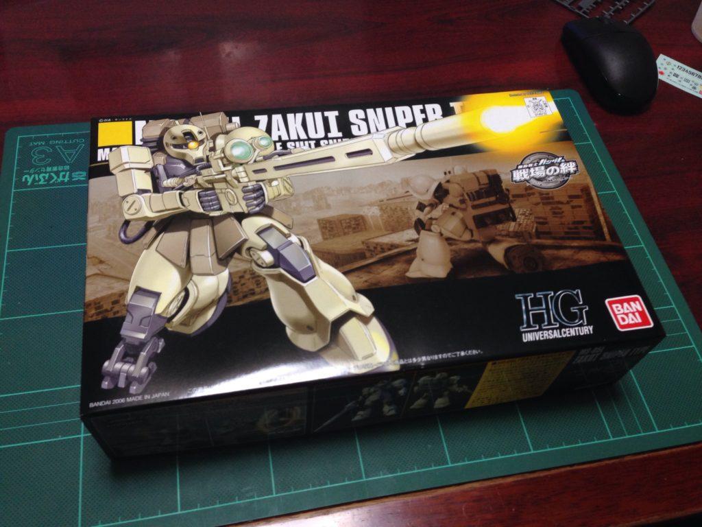 HGUC 1/144 MS-05L ザクI・スナイパータイプ [Zaku I Sniper Type] パッケージ