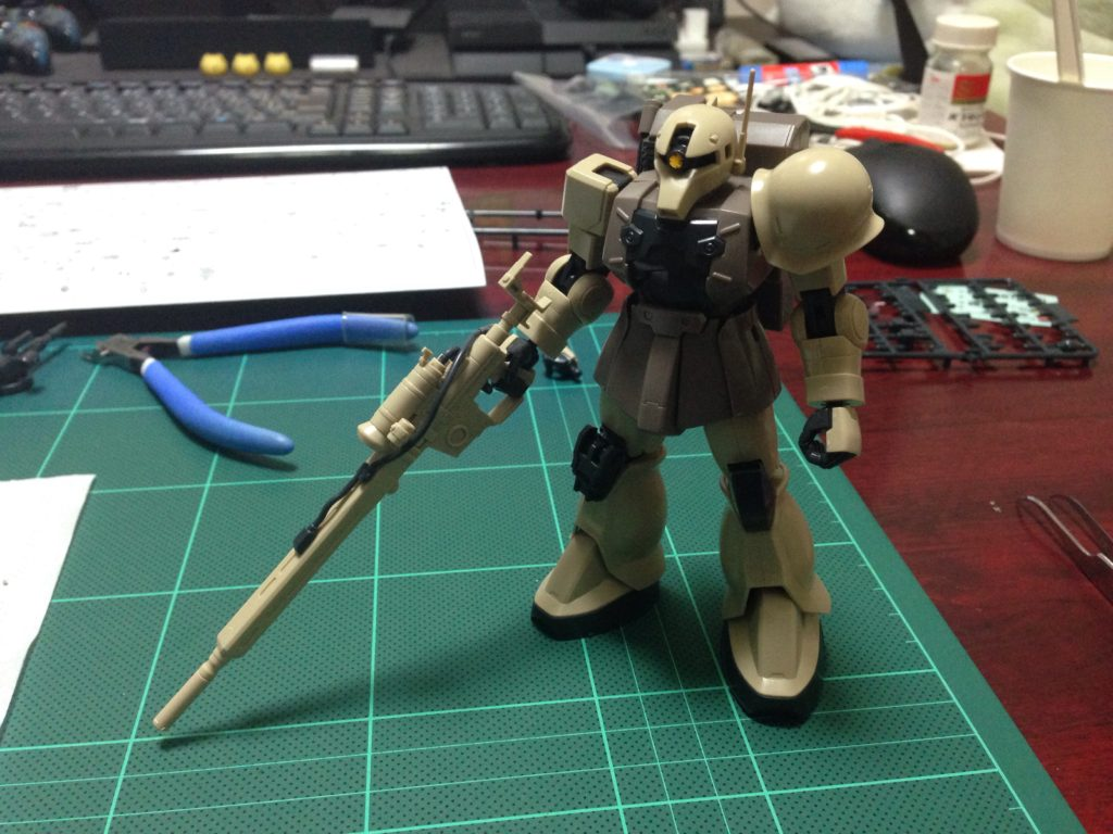 HGUC 1/144 MS-05L ザクI・スナイパータイプ [Zaku I Sniper Type] 正面