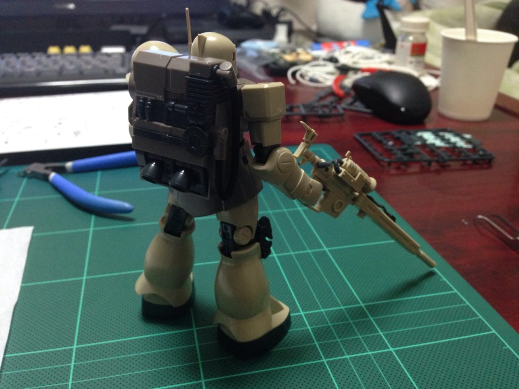 HGUC 1/144 MS-05L ザクI・スナイパータイプ [Zaku I Sniper Type] 背面