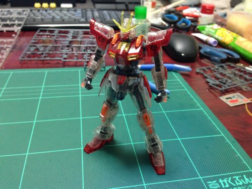 HG ビルドバーニングガンダム PPクリアVer. 正面