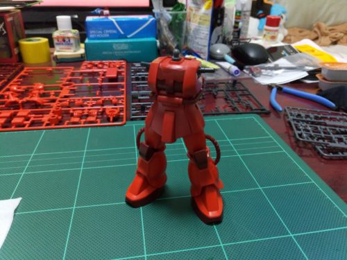 HGUC シャア専用ザクⅡ Ver.ZEONICTOYOTA SecondEdition 脚部